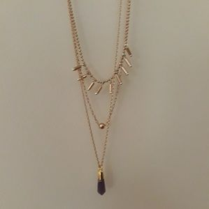 4 LISTINGS FOR $10-HOLLISTER CRYSTAL NECKLACE